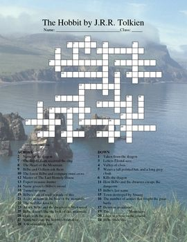 This is a crossword for the book The Hobbit for grades 5-8. The clues are a review of events and characters in The Hobbit by J.R.R Tolkien.  I like...: Grade 5 8, Events, Review Crossword, Classroom Inspiration, Book, Hobbit Crossword, Hobbit Classroom, Teaching The Hobbit, Classroom Ideas