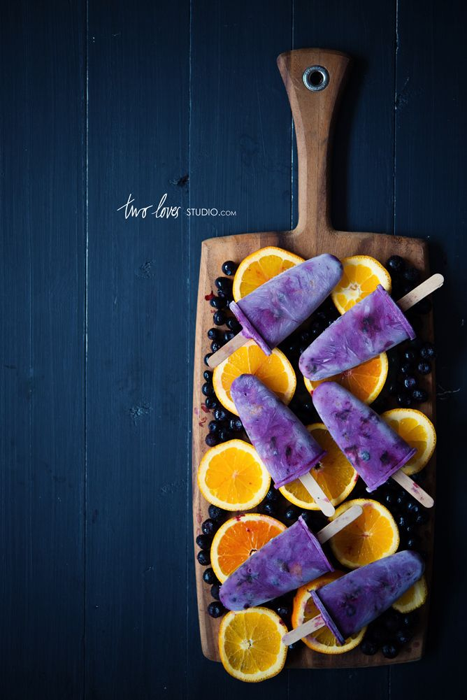 two loves studio | blueberry orange icy pops