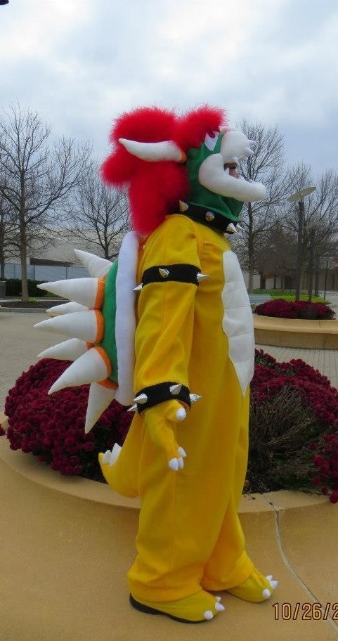 I made this Bowser costume for my son for Halloween 2012. He loved it!