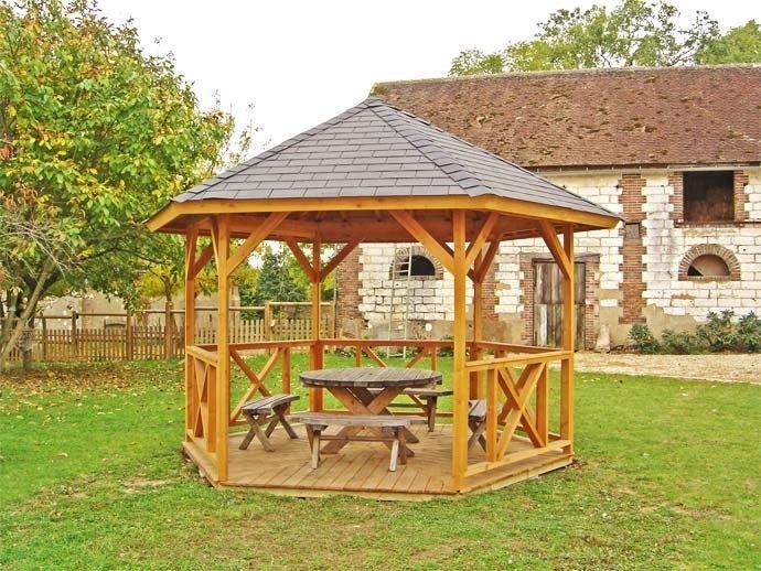 Kiosque Gloriette Carbet Auvent Preau Paillote Environnement Bois Gloriette Kiosque Jardin Amenagement Exterieur