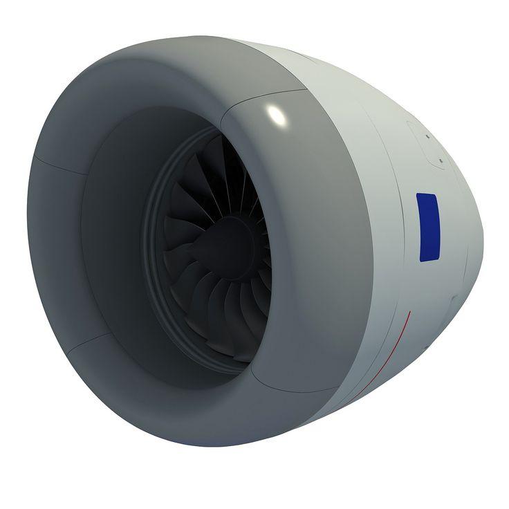 Rolls-Royce Trent 1000 Turbofan Aircraft Engine 3D Model