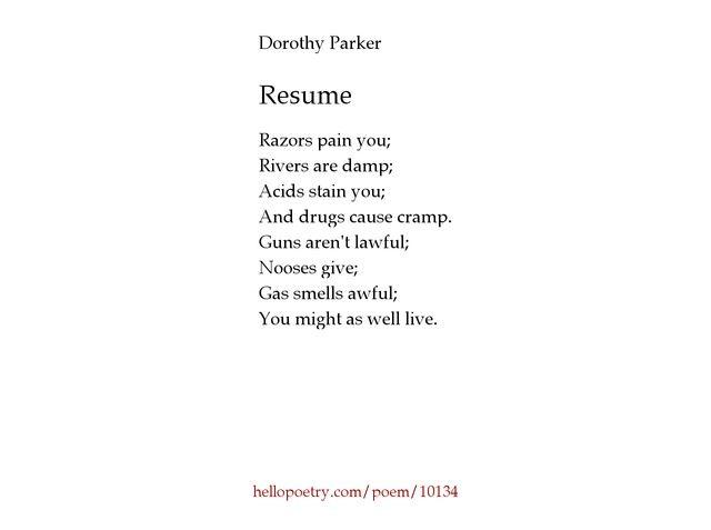 The 25+ best Baseball poems ideas on Pinterest Baseball quotes - resume by dorothy parker