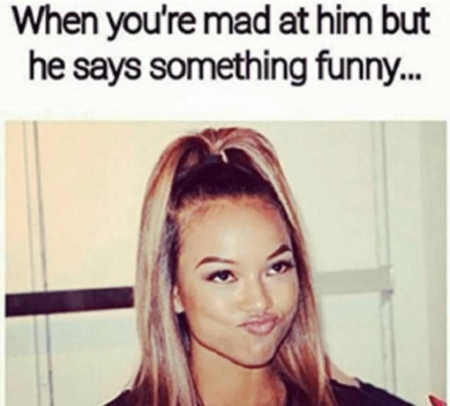 Being Mad At Bae Is Hard And Challenging Funny Boyfriend Memes Annoying Boyfriend Quotes Boyfriend Humor