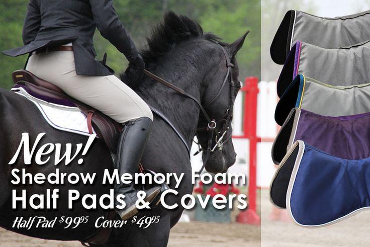 Greenhawk Harness & Equestrian Supplies - New Shedrow Memory Foam Half Pads & Covers