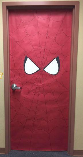 Best 25 superhero classroom door ideas on pinterest for Puerta wonder woman