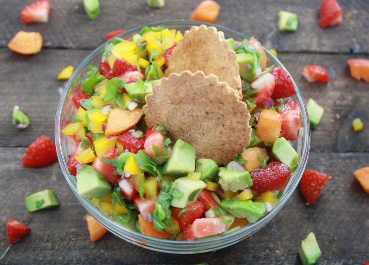 Salasasalat med jordbær & abrikos