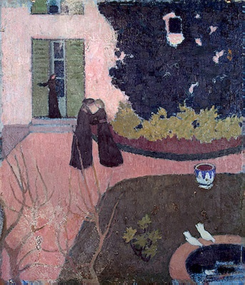 """Maurice Denis """" c1892 Encounter oil on  cardboard Copyright ©2003 State Hermitage Museum"""""""
