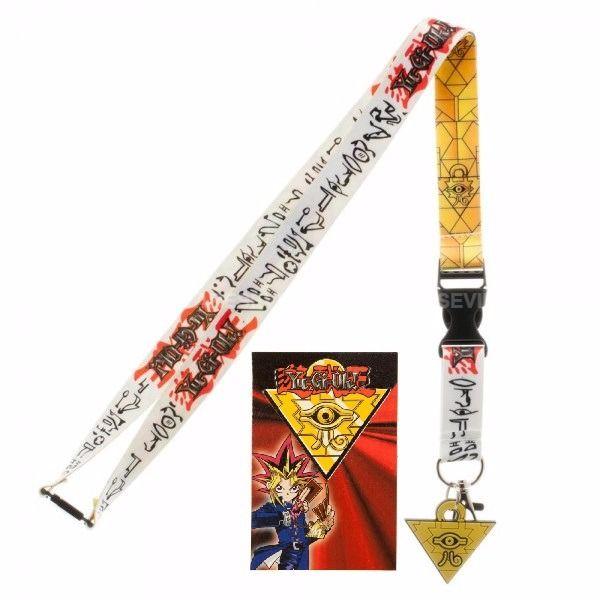 YUGIOH Neck Lanyard ID Badge Holder Keychain Yu-Gi-Oh Hieroglyphics Egypt Eye  #Bioworld