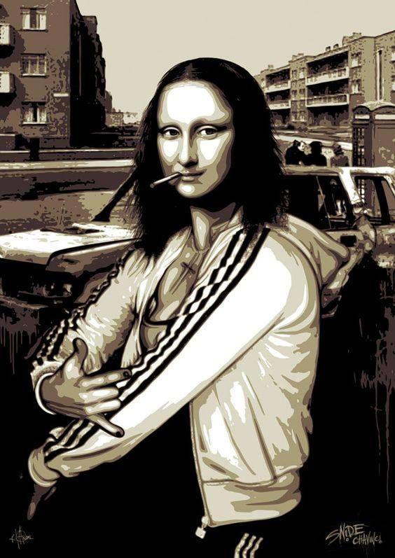 Banksy via 'Squatting Slavs in Track Suits'