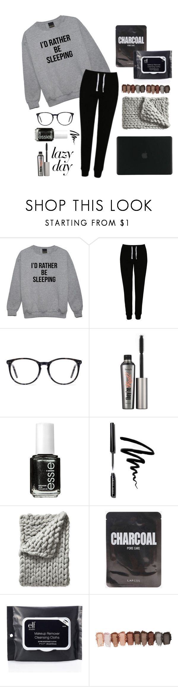 """""""take me back"""" by themodestunicorn ❤ liked on Polyvore featuring George, Ace, Benefit, Essie, Bobbi Brown Cosmetics, Serena & Lily, ELF Cosmetics and Tucano"""