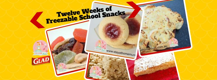 Twelve Weeks of Freezable School Snacks | Stay at Home Mum