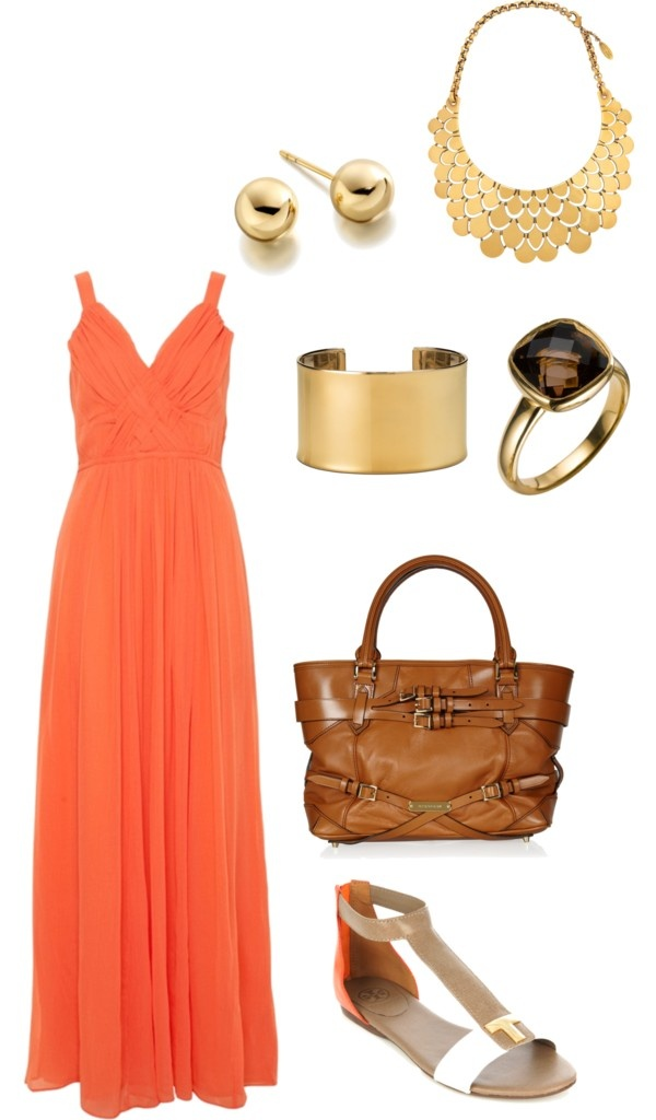 Love the dress: Coral And Gold, Christy Dollar, Complete Outfits, Style, Beautimus Maxi, Closet Inspirations, Maxis, Coral Maxi Dresses, Coral Maxi Gold