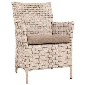 Wicker рукоятка патио ротанга сада мебели обедая стул