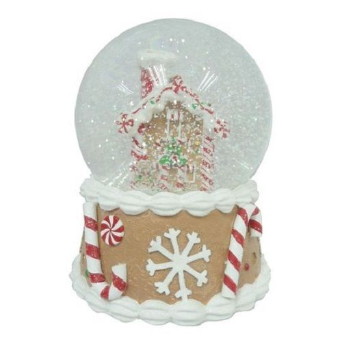 Musical Christmas Gingerbread House Snow Globe Winter Holiday Indoor Decorations