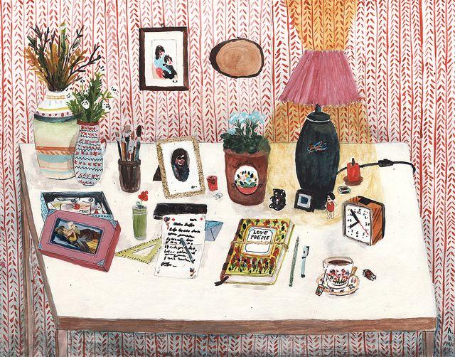 still life II - desk by Angela Dalinger, via Flickr
