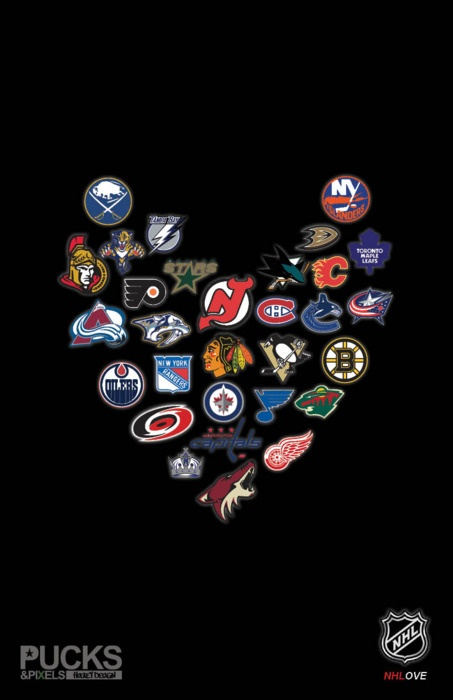NHL ♥, Blackhawks in the center, as they should be.