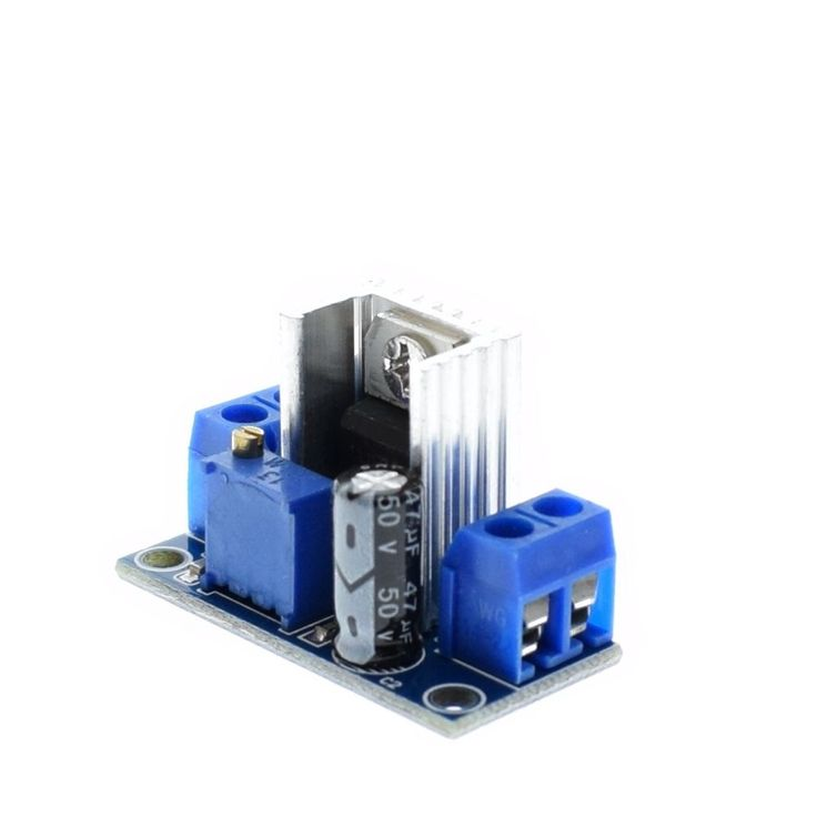 LM317 DC Linear Regulator DC-DC 4.5~40V Turn 1.2~37V Step Down Power Module Adjustable    Features:  Name: Adjustable Linear Regulator      Output Current: 1.5A (minimum), 2.2A (typ)    Input and output voltage difference (VI-VO): 40Vdc (max)    Adjustable output voltage range: 1.2 ~ 37V    Operating temperature: -55 to +150    Output Current: 1.5A    Input voltage: 4.2 ~ 40 V    Characteristics Frequency: 100 (MHz)    Module size: 35.6 (mm) x16.8 (mm)    Input: VIN positive input stage, GND…