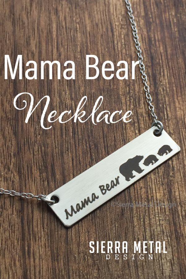 Mama Bear Necklace 1-7 Cubs Mama Bear Jewelry Under 25 Dollars Stainless Steel Hypoallergenic Matches Mama Bear Shirts