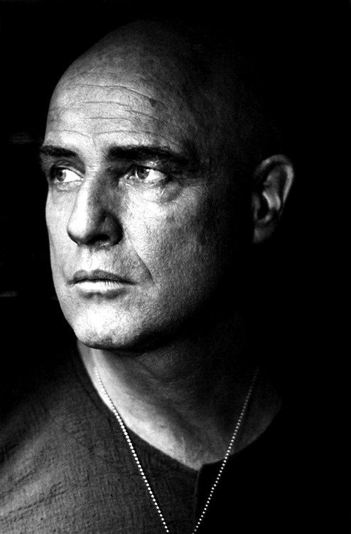Colonel Kurtz. Marlon Brando photographed by Mary Ellen Mark on the Philippine set of Francis Ford Coppola's Apocalypse Now (1979).