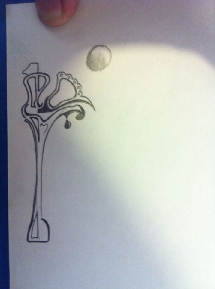 #moon + #streetlamp #idea for #mural #drawing