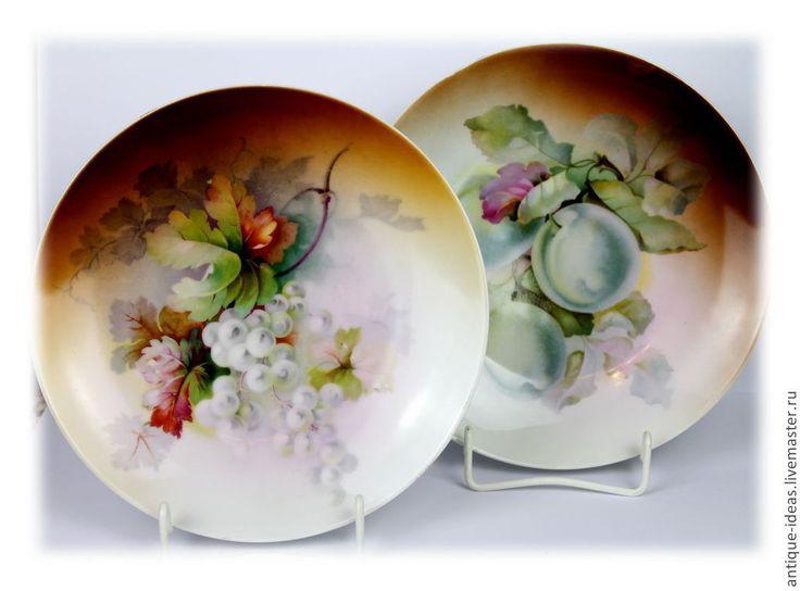 Купить Старинные тарелки для фруктов, Бавария - коричневый, антиквариат, антикварный, старина, старинный стиль, винтаж