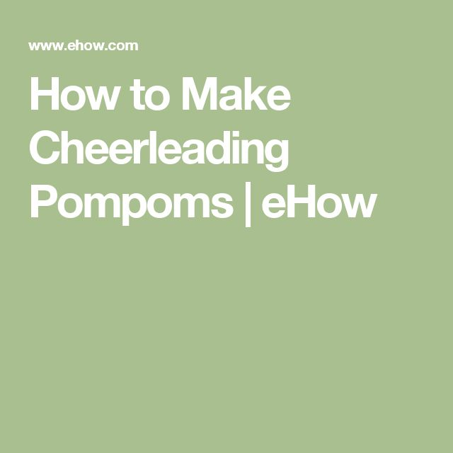 How to Make Cheerleading Pompoms | eHow
