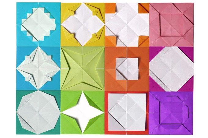 """Edition Fröbel - """"Das Falten 1""""  16 Arbeitsblätter zum Falten von einfachen Original-Fröbel-Figuren. Im Gegensatz zum Origami stellen die Fröbelschen Papierfaltarbeiten nur geometrische Formen dar. Hierzu entwickelte Fröbel die """"Windmühlenfaltung"""" als Grundelement der Papierfalttechnik, die in den letzten Jahrzehnten in Vergessenheit geraten ist. Mit diesen Faltmustern kann man sehr viele Faltvariationen selber entwickeln."""