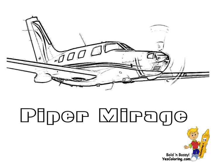 piper mirage airplane coloring picture you can print out this coloringpage for kids