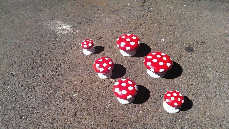 Were little wooden handles. Now fairy garden toadstools.