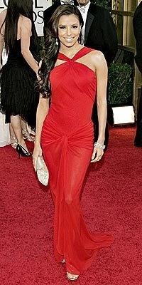Eva Longoria's drop dead red number for the 2006 Golden Globes.: 2006 Golden, Cousins Bobs, Golden Globes, Celebrity Wear, Celebrity Chic, Globes 2006, 2006 Red, Celebrity Dare, Bobs Mackie