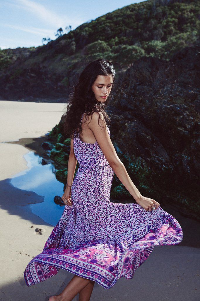 Flores Maxi Dress in Orchid - Arnhem Clothing