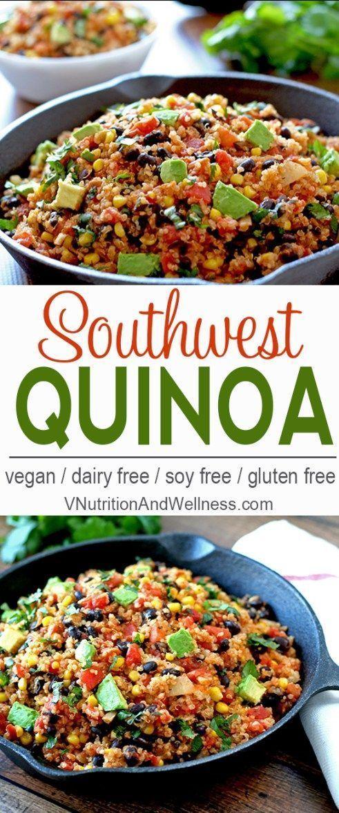 Quinoa sud-occidentale   Questa quinoa sudoccidentale facile da preparare può essere pronta in meno di 30 € …