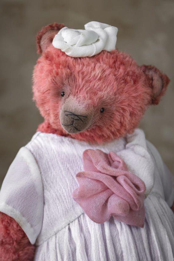 OOAK artist teddy bear collectible bear plush teddy от HelikaToys