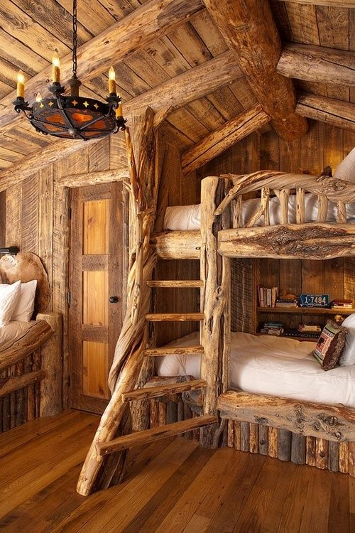 Really well done Log Cabin Bunk Beds.