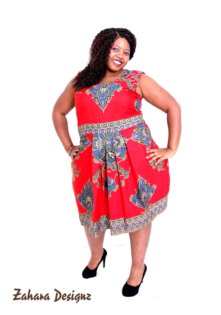 Beautiful african dress, suitable for curvaceous ladies.