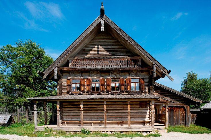 sept types de demeures traditionnelles russes cabin. Black Bedroom Furniture Sets. Home Design Ideas