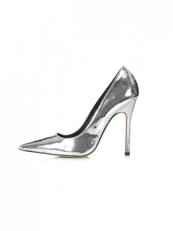 The ultimate party shoe // Topshop Gallop Metallic Court Shoes