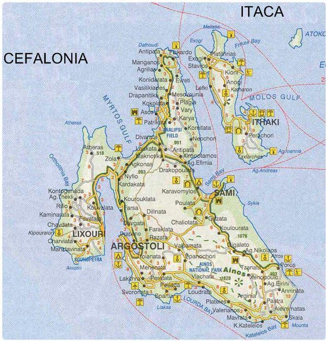 Mappa Cefalonia - Cartina Cefalonia | Mappe, Immagini, Viaggi