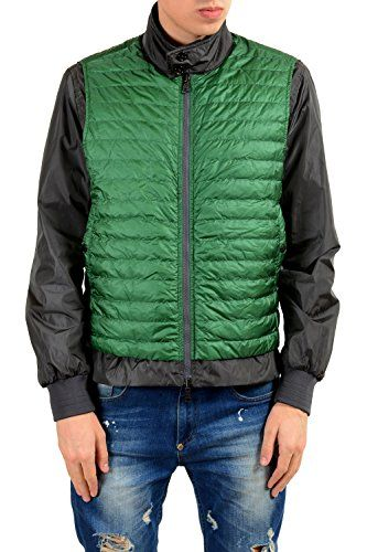 707deff8b Moncler Men s Gray Green Down Reversible Light Windbreaker Jacket ...