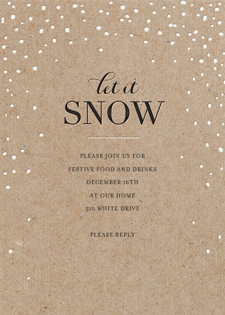 Flurries by Sugar Paper for Paperless Post. Send custom online holiday party…