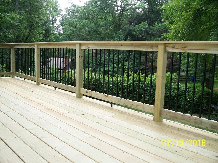 Best Standard Deck With Pressure Treated Handrail Black 400 x 300