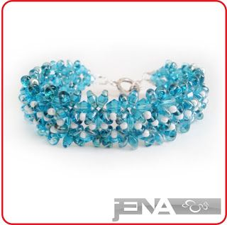 Caterpillar bracelet made of SuperDuo by JENA