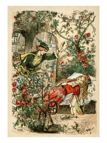 A vintage fairy tale illustration