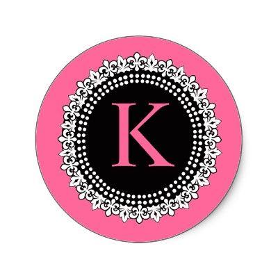 K Letter Images In Pink pink with black letter K: Express Y Ʊrself, Crafty Diy Stuff, Letter ...