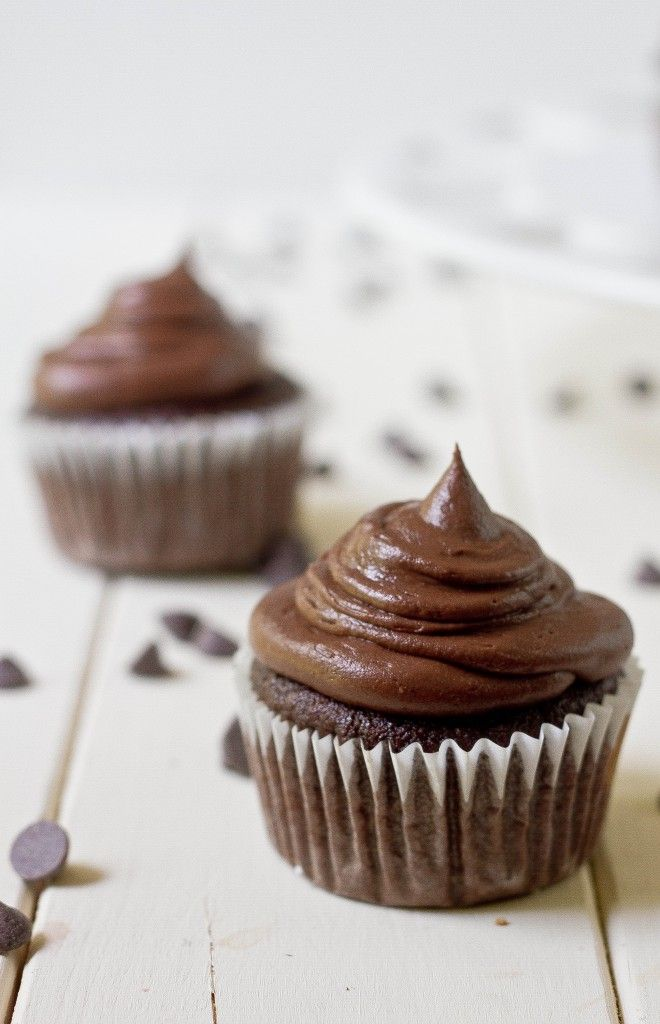 paleo chocolate cupcakes made with coconut flour
