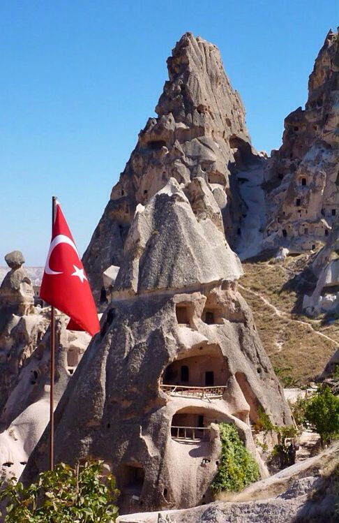 Cave houses in Cappadocia, Turkey