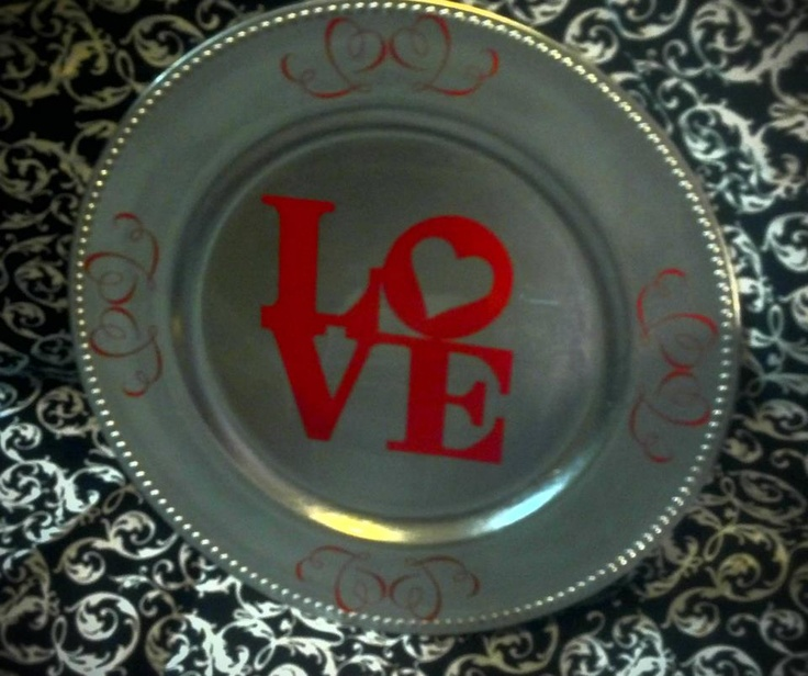 Valentine's LOVE Charger Plate