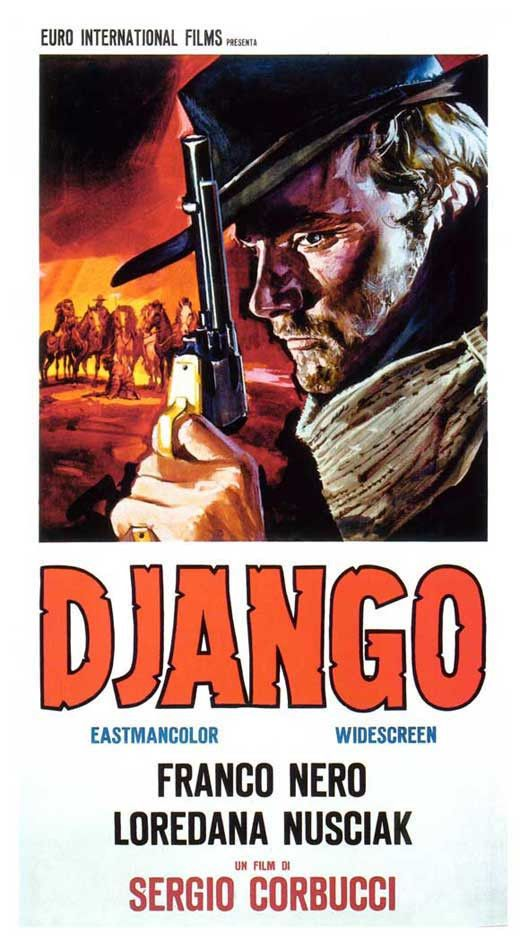 Django (1966) Franco Nero stars as the lone stranger who roams the West dragging a coffin filled with chaos towards a destiny ruled by vengeance. Co-writer/director Sergio Corbucci (The Great Silence,