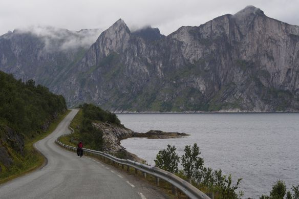 The road to Mefjordvær on Senja Island.