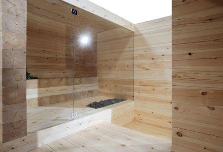 Beautiful, modern sauna